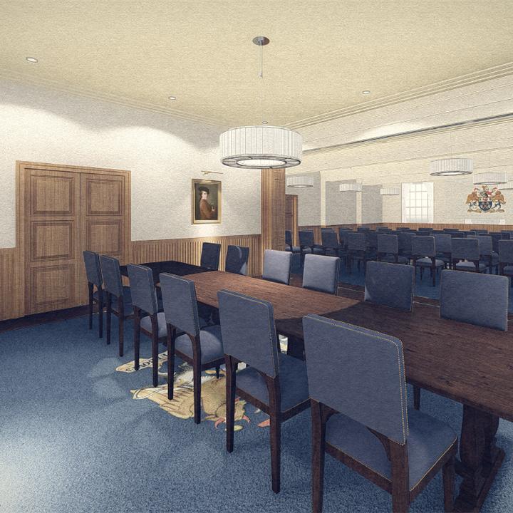 Butchers' Hall desks